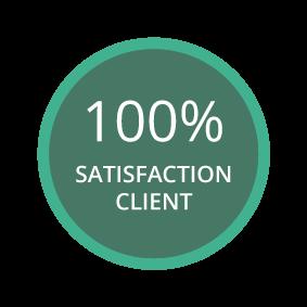 badge satisfaction client
