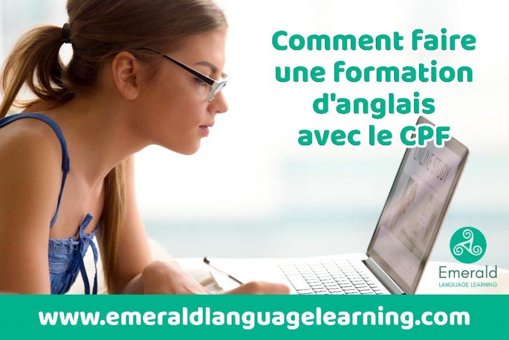 Comment faire une formation d'anglais avec le CPF